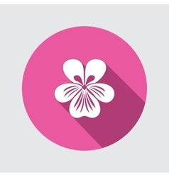 Viola violet nasturtium pansy flower icon vector