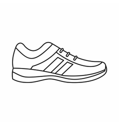 Men sneakers icon outline style vector