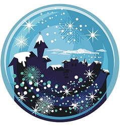 Winter snow globe vector