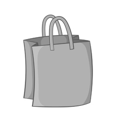 Bag with handles icon black monochrome style vector