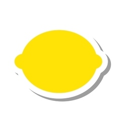 Lemon citrus fruit isolated icon vector