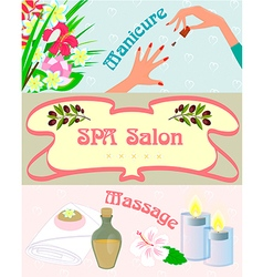 Promotional posters spa manicure vector
