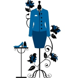Mannequin for tailors with business dress vector