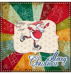 Christmas card merry christmas lettering eps10 vector