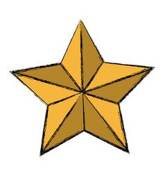 golden star decoration ornament icon vector image