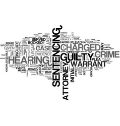 What to expect if you are charged with a crime vector