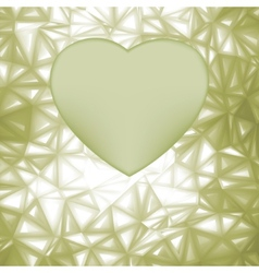 Elegant heart frame with space for concept EPS 8 vector image