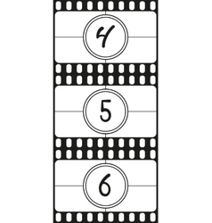 Film countdown numbers part 2 vector