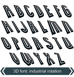 Headline retro style technical 3d font vector