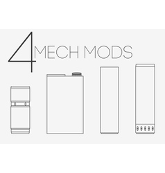 4 thin lines mechanical mods set vector