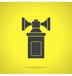 Black air horn flat icon vector