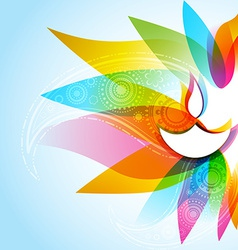 Stylish diwali background vector