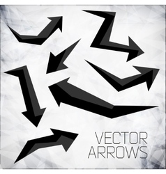 Modern arrows vector