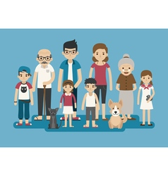 Set of big happy family character  eps10 vector