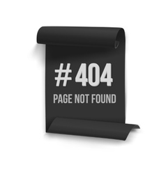 Error 404 folded paper banner page not vector