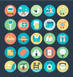 Travel colored icons 2 vector