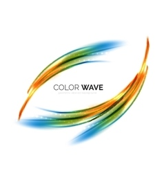 Blurred wave design elements vector image