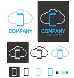 Mobile Cloud Computing company logo template vector image