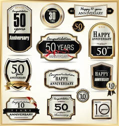 Anniversary luxury labels vector image