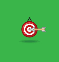 arrow flying in target on a vector image vector image
