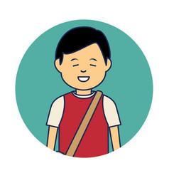 Asian man ethnicity avatar character vector