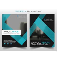 blue label brochure annual report leaflet flyer vector image vector image