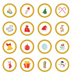 Christmas cartoon icon circle vector