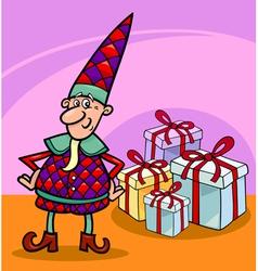 christmas elf or gnome cartoon vector image vector image