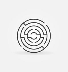 circular maze icon vector image