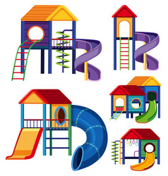 different designs of playhouses vector image vector image
