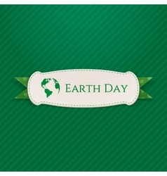 Earth Day realistic paper Banner Template vector image vector image