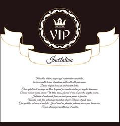 Elegant postcard for vip invitations and vector