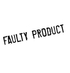 Faulty product rubber stamp vector