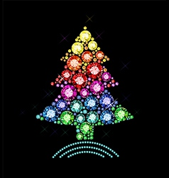 Gem Christmas Tree vector image vector image