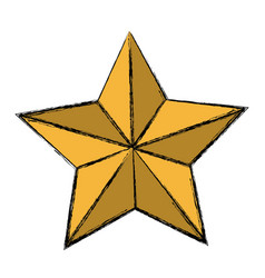 golden star decoration ornament icon vector image