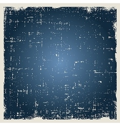 Grunge blue background texture with dust vector image vector image