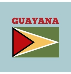 Guayana country flag vector