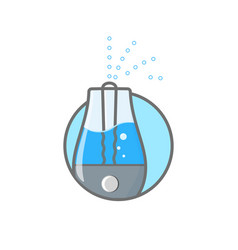 Humidifier air outline icon vector