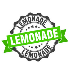 Lemonade stamp sign seal vector