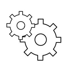 Line gear symbol process industry vector