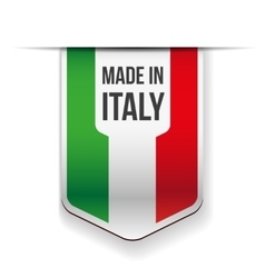 Made in italy flag ribbon vector