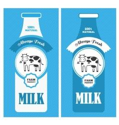 Milk poster vector image vector image
