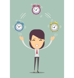 Office worker planning time vector image vector image