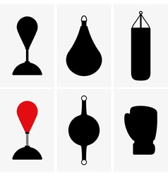 Punching bags vector image