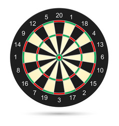 Realistic dartboard on white background for vector