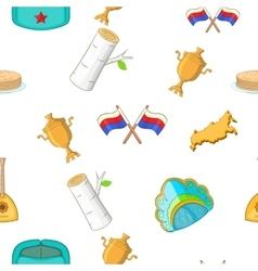Russia pattern cartoon style vector