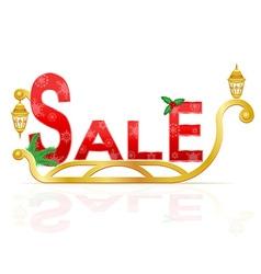 santa claus sleigh sale vector image