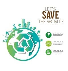 Save the world urban industrial factory ecology vector