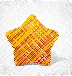 Scribbled orange five-star vector image