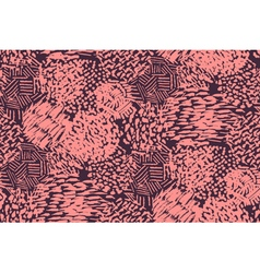 Seamless pencil scribble pattern in pink vector